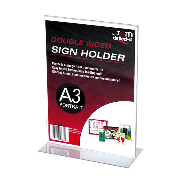 Blueprint Premium 3mm Slanted Sign Holder A4 Portrait