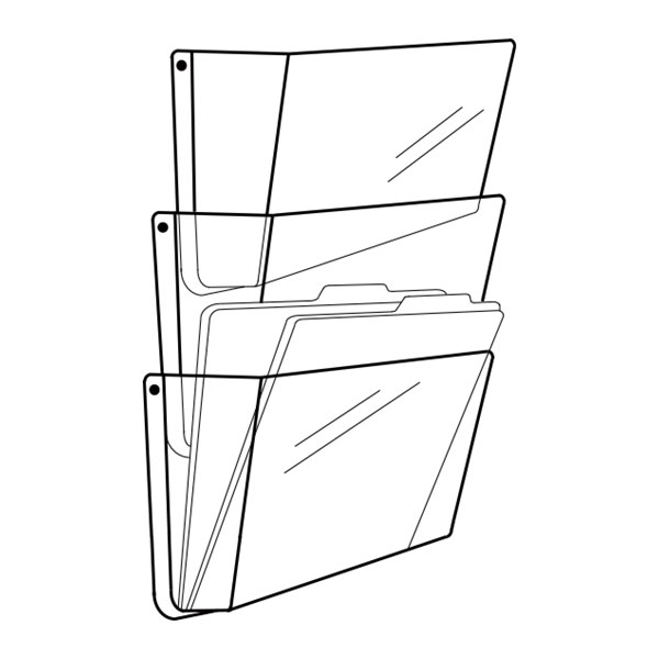 Line Art Solutions Ltd : Deflecto unbreakable wall pocket pack clear a