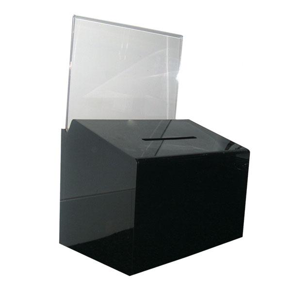 Ballot and Donation Boxes
