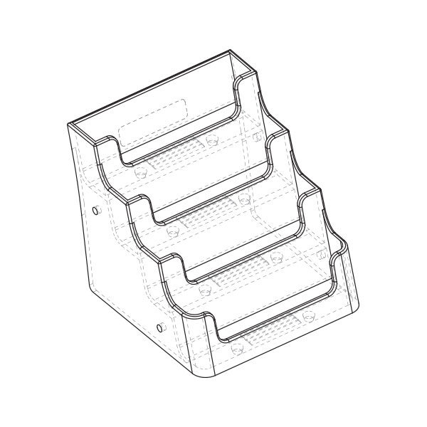 deflecto business  place card holder