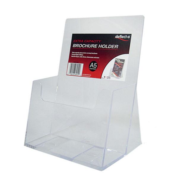 Deflecto Rotating Countertop Brochure Holder Dl Black
