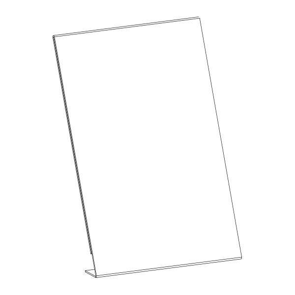 Blueprint Sign Holder Slanted A4 Portrait Jpm